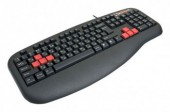 Клавиатура A4 G600 black Fast Gaming waterproof PS/2