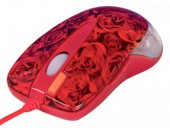 Мышь A4 X6-999D rose red optical GLaser 2X Click USB