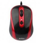 Мышь A4 N-250X-2 V-Track Padless USB Black + Red