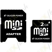 Флеш карта mini SD 2Gb Silicon Pawer 80x с адаптером
